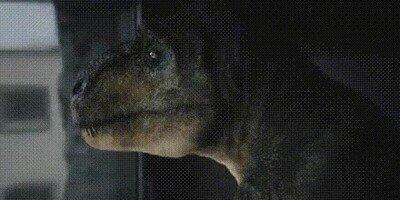 Enlace a Cuando un T-Rex escucha una canción en la que piden que toques las palmas