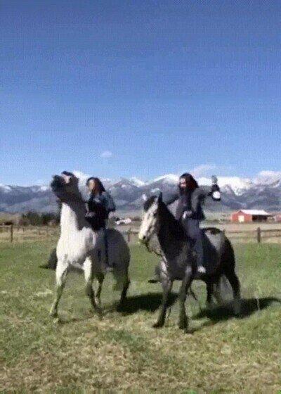 Enlace a Fue una mala idea subir al caballo en esas condiciones