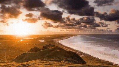 Enlace a Te relajarás viendo este paisaje de una puesta de sol