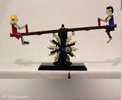 Esculturas de Lego Kinetic del youtuber JK brickworks