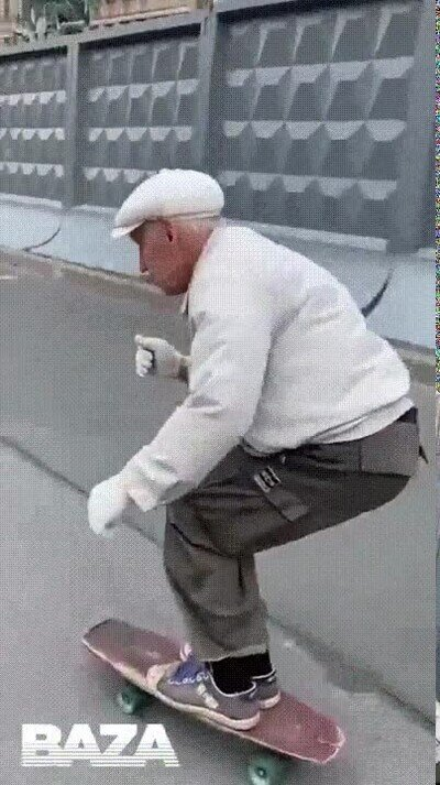 Enlace a 74 años tiene este señor skater