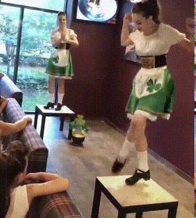 Enlace a El Irish dance es simplemente una maravilla
