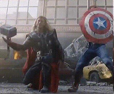 Enlace a Vengadores detrás de las cámaras