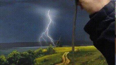 Enlace a Una pintura de una tormenta ultra realista
