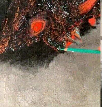Enlace a Haciendo el alucinante retrato de un dragón