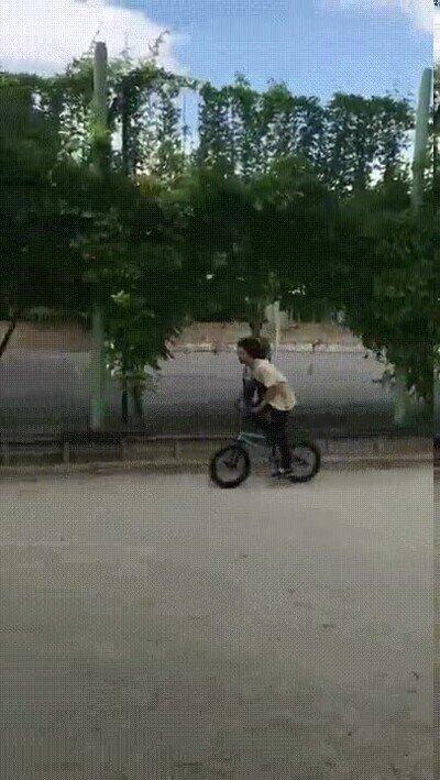 Enlace a Tremenda voltereta sobre la bici