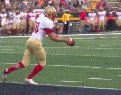 El touchdown más fácil de su carrera