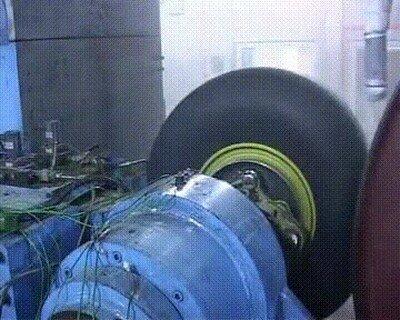 Prueba de frenos de un Airbus A380