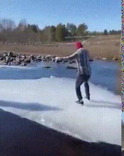Enlace a Mantenerse de pie encima de hielo es lo más difícil