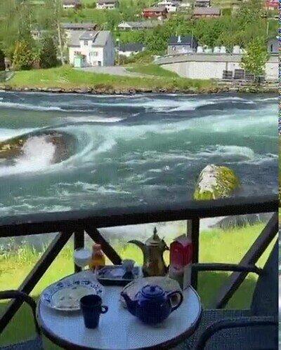 Enlace a Me encantaría tomar el desayuno en un lugar tan tranquilo