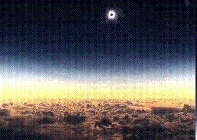 Enlace a ¿Alguna vez habías visto un eclipse solar desde el avión?
