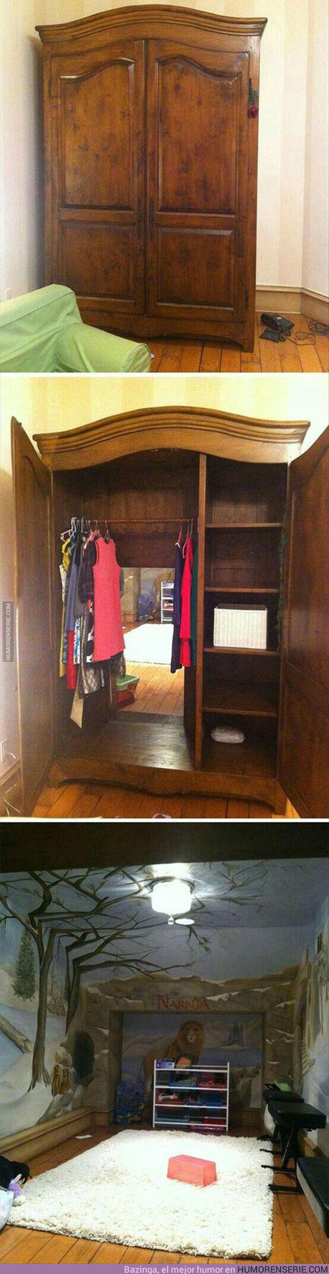 16456 - Padres crean esta habitación estilo Narnia para sus hijos