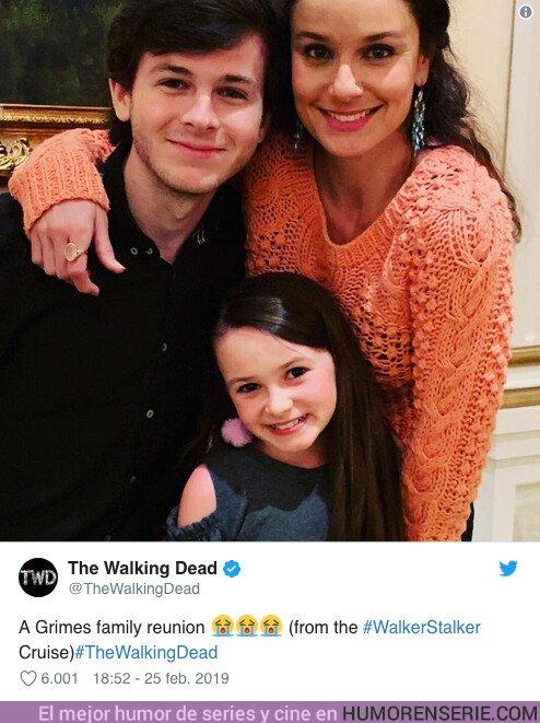 35385 - TWD: La familia Grimes se reencuentra en una foto que te emociones