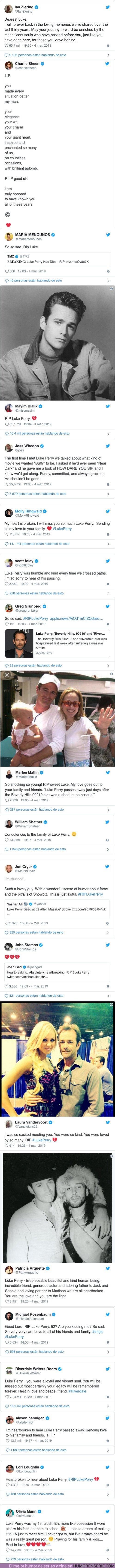 35633 - Estas han sido las reacciones de los compañeros de profesion de Luke Perry al enterarse de su muerte