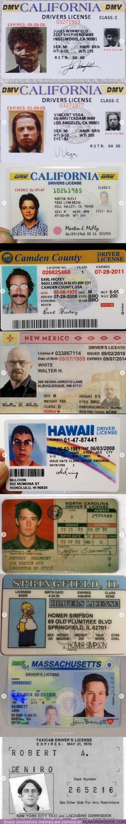 35751 - GALERÍA: Las licencias de conducir más famosas del cine y de la televisión