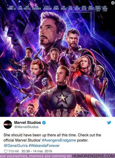36032 - Marvel es obligada a cambiar un error en el poster de Vengadores: Endgame