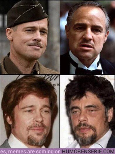 36345 - Los rostros de Brad Pitt