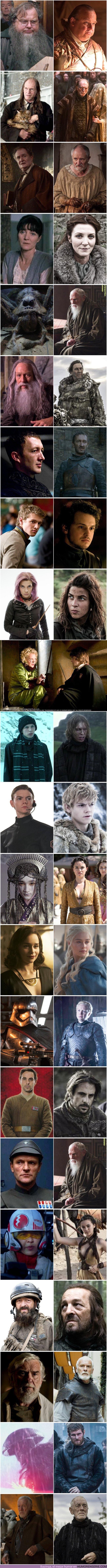 37052 - 22 actores de Juego de Tronos que también salieron en Harry Potter o Star Wars