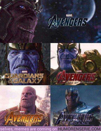37147 - La transformación de Thanos a lo largo de los años