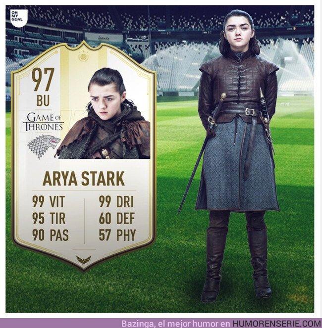 37643 - Acaba de salir la carta de FIFA de Arya Stark. Por Ohmygoal