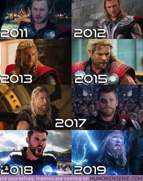 37827 - Evolución de Thor en las películas del Universo Marvel