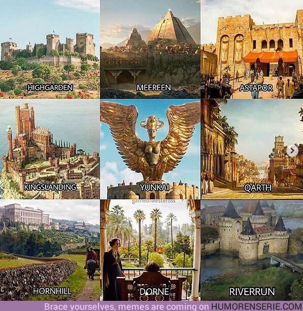 39261 - ¿Cuál de estas localizaciones de Juego de Tronos visitarías en unas vacaciones?