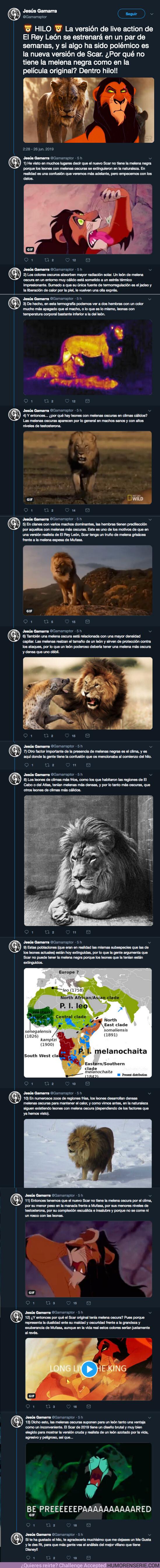 39518 - Este hilo cierra el debate sobre la polémica de Scar en el live action de El Rey León