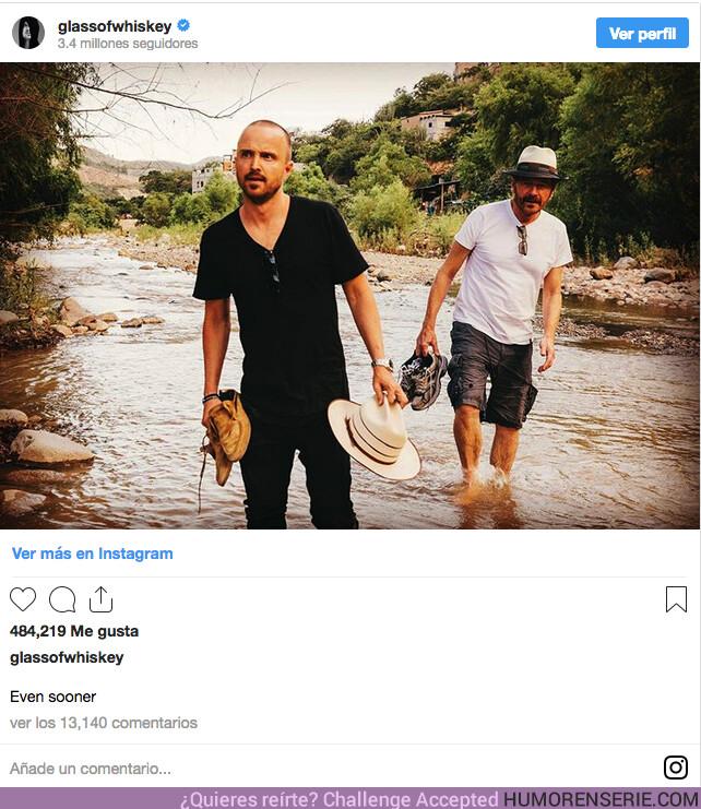 39711 - Los protas de Breaking Bad siguen liándola en las redes sociales. ¿Habrá un anuncio pronto?