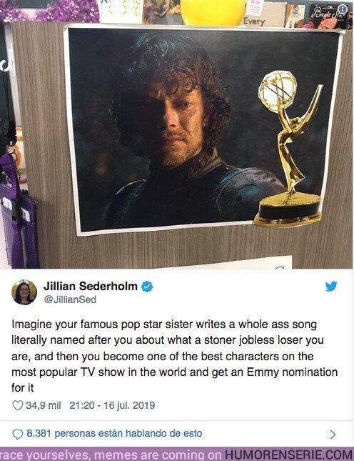 40229 - Conoce la historia de cuando Lily allen se burló de su hermano que ahora está nominado a un Emmy por Juego de Tronos