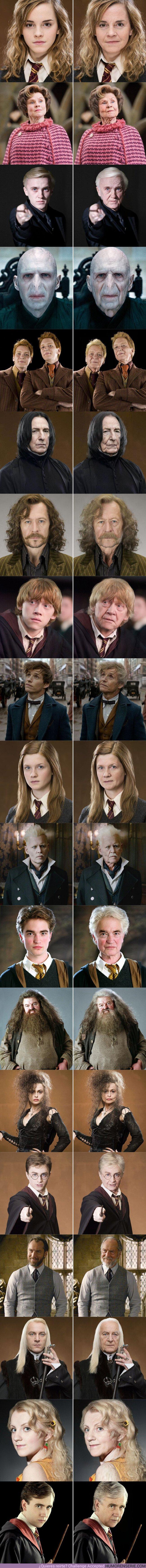 40275 - GALERÍA: Así están los personajes de la saga Harry Potter después de ser pasados por el filtro que envejece