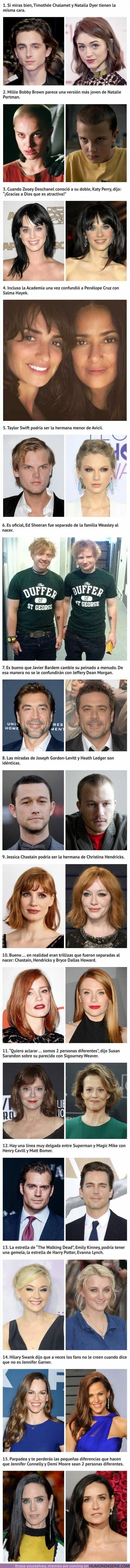 40687 - Comparaciones entre celebridades que son tan parecidas que parecen familia