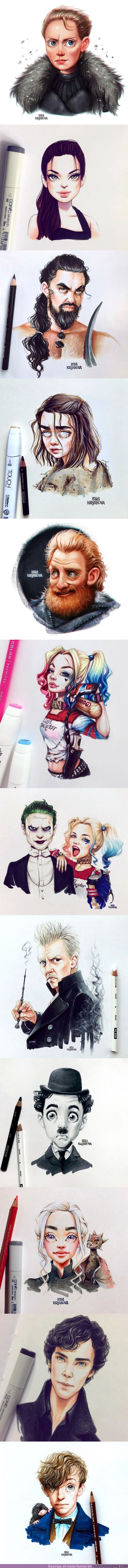 40872 - GALERÍA: Lera Kiryakova dibuja de forma increíble a tus personajes favoritos