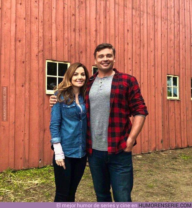 42433 - Tom Welling y Erica Durance (Clark y Lois) se reúnen después de muchos años para grabar el crossover del Arrowverse