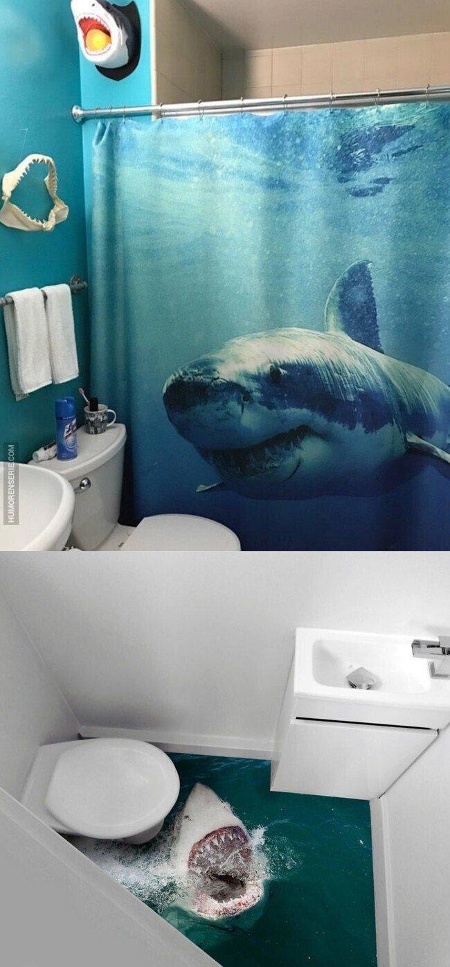42557 - Baños inspirados en la película Tiburón