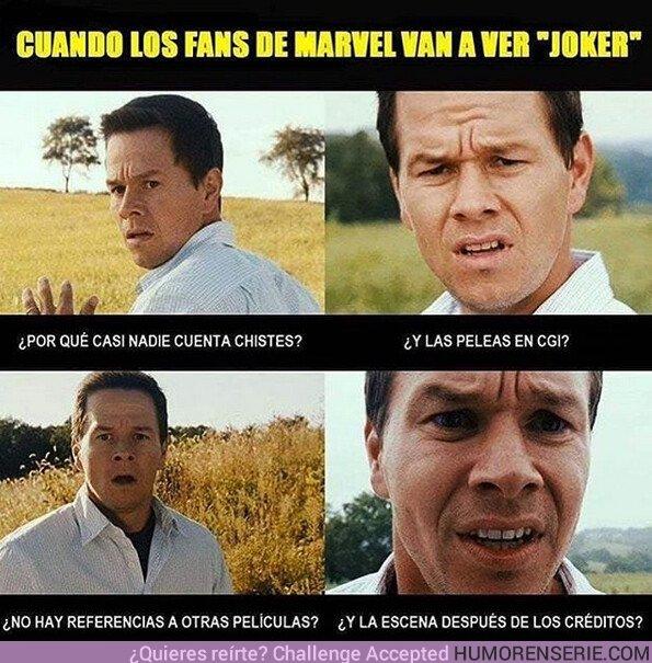 42771 - Así reaccionan los fans de Marvel cuando van a ver Joker