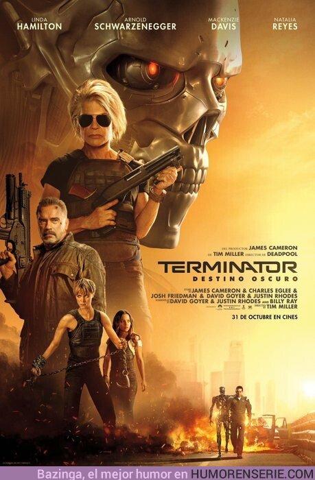 42869 - Póster de Terminator Destino Oscuro. 31 de Octubre en cines.