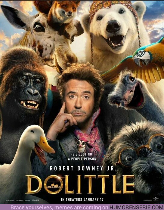 43006 - Este es el primer póster de Dr. Dolittle ¿Qué te parece?