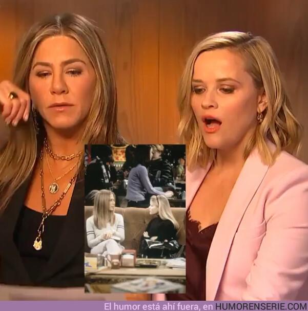 43222 - Jennifer Aniston y Reese Witherspoon recrean unas de sus mejores escenas en Friends