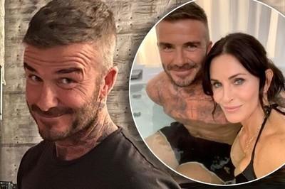 43416 - La historia detrás de la foto de Courteney Cox y David Beckham en el jacuzzi
