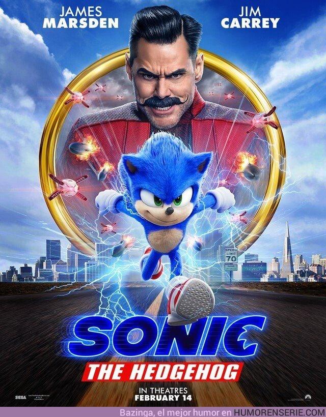 43927 - Póster oficial de la pélicula de Sonic. Mucho mejor ahora