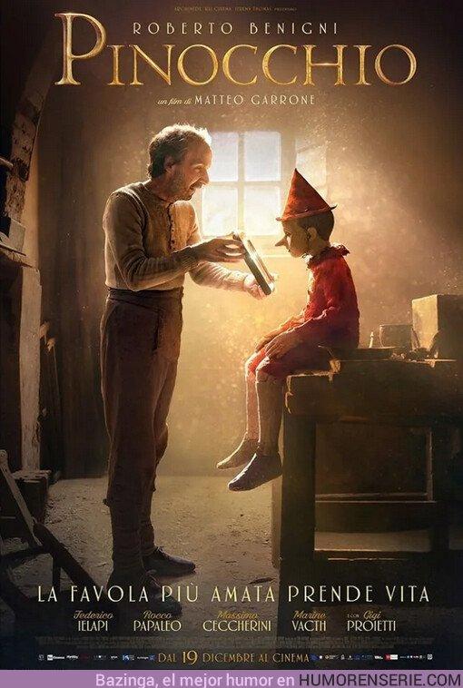44136 - Primer póster de la nueva película de Pinocho, hype