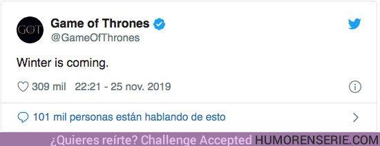44398 - Un tweet de la cuenta oficial de Juego de Tronos podría anticipar un gran anuncio en breve