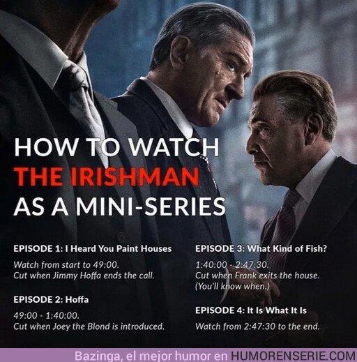 44670 - Guía para ver The Irishman como una serie de 4 capítulos