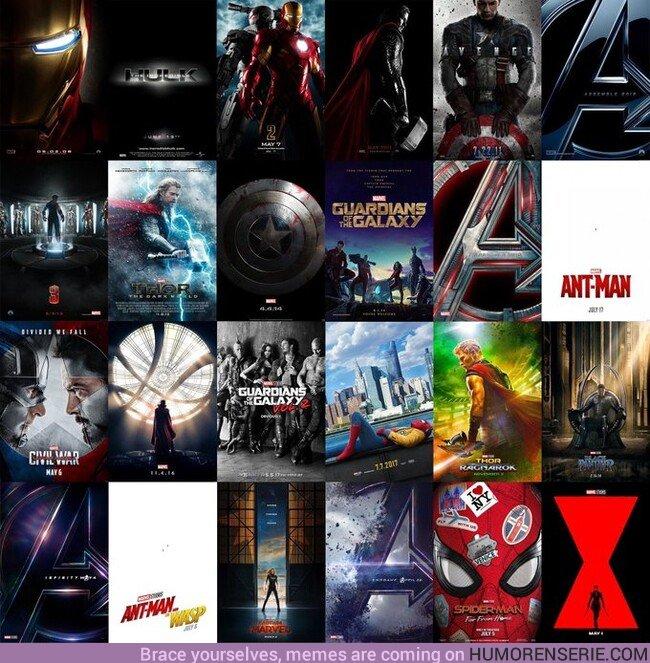 44857 - 24 pósters para 24 películas, historia del MCU.