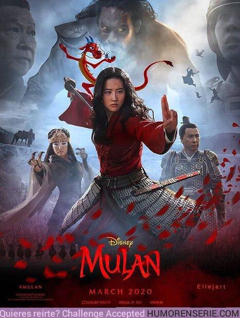 44875 - Así sería el póster de Mulan si saliera Mushu