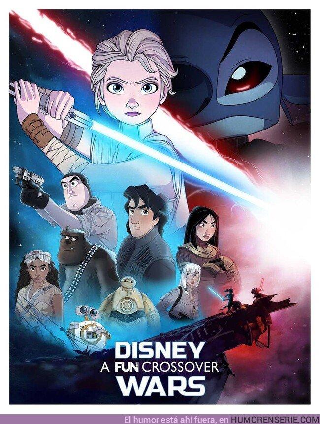 45031 - Mira el póster de la nueva película de Star Wars versionada con personajes de Disney