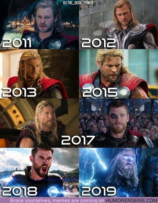 45366 - La evolución de Thor a lo largo del UCM.