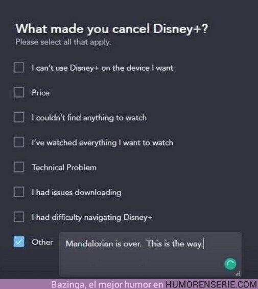 45422 - La razón por la que el mundo se quita Disney+