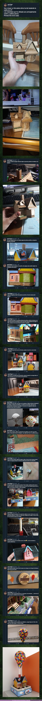 45762 - Este tuitero te cuenta cómo ha construido la casita de UP con cartón y palillos planos. BRUTAL