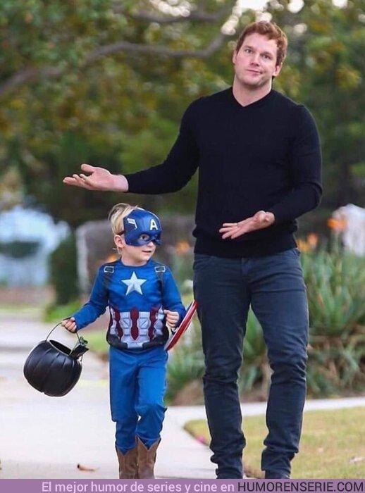 46393 - Cuando eres Star Lord pero tu hijo es fan del Capitán America...